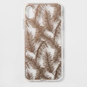 Heyday Printed Feathers Case for iPhone Rose Gold